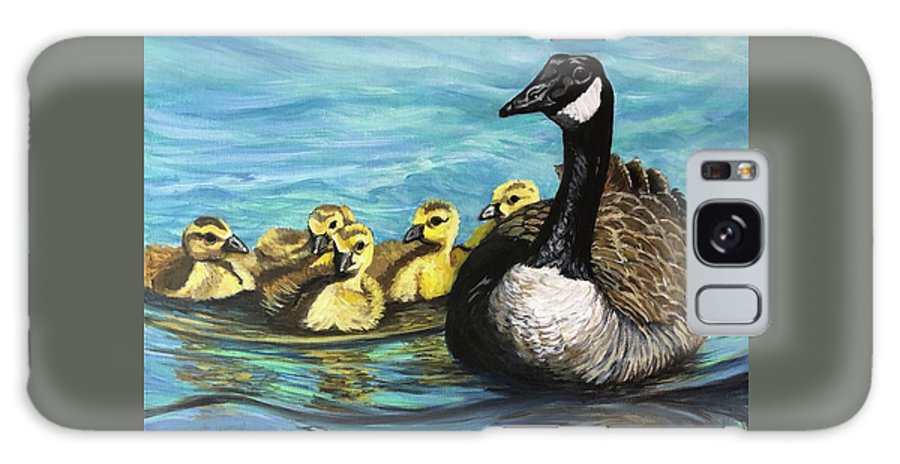 Canadian Galaxy S8 Case featuring the painting Canadian Goise And Goslings by Jeanette Jarmon