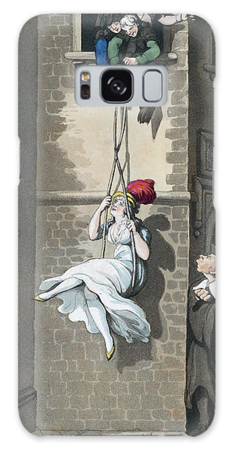 B1019 Galaxy Case featuring the painting Cartoon - Smuggling In Or A College Trick, 1798 by Heinrich Joseph Schuetz