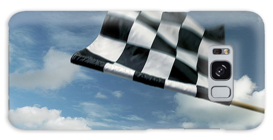Working Galaxy Case featuring the photograph Checkered Flag by James W. Porter