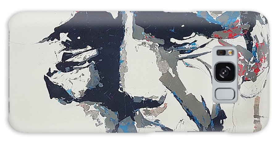 Chet Baker Galaxy S8 Case featuring the painting Chet Baker - Abstract by Paul Lovering