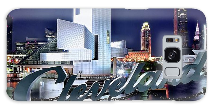 Cleveland Galaxy Case featuring the photograph Cleveland Ohio 2019 by Frozen in Time Fine Art Photography