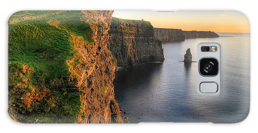Big Galaxy S8 Case featuring the photograph Cliffs Of Moher At Sunset - Ireland by Patryk Kosmider