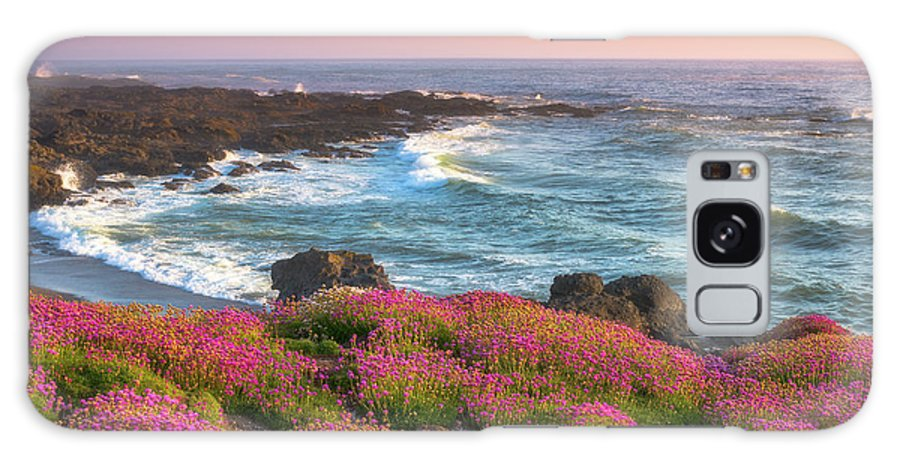 Oregon Galaxy S8 Case featuring the photograph Coastal Clover Sunset by Darren White