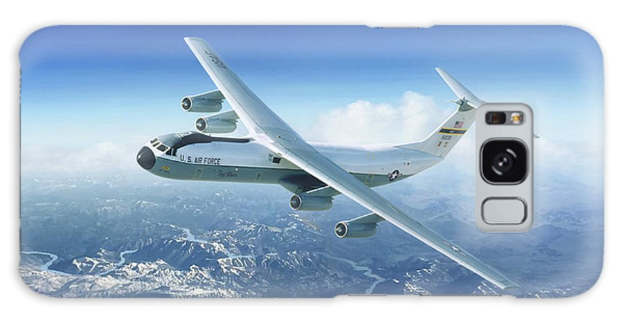 Starlifter Galaxy Case featuring the painting Cold War Heavy Lifter by Mark Karvon