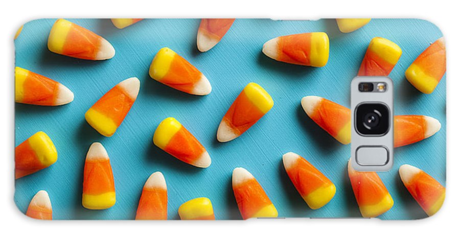 Treat Galaxy S8 Case featuring the photograph Colorful Candy Corn For Halloween On A by Brent Hofacker