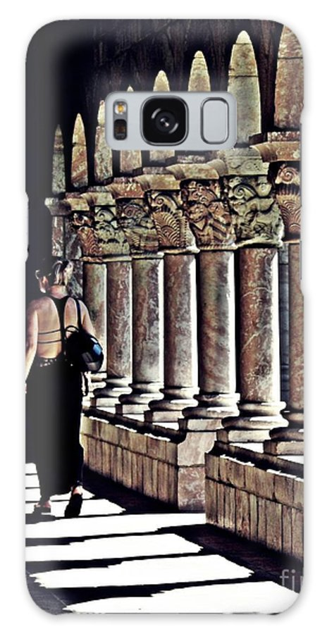 Building Galaxy S8 Case featuring the photograph Columns At The Cloisters 2  by Sarah Loft