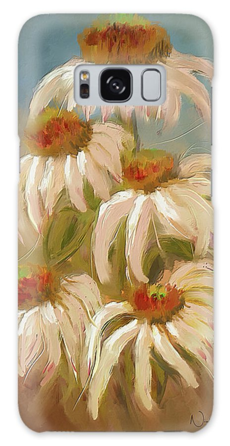 Nicky Jameson Galaxy S8 Case featuring the digital art Cone Flower Dance by Nicky Jameson