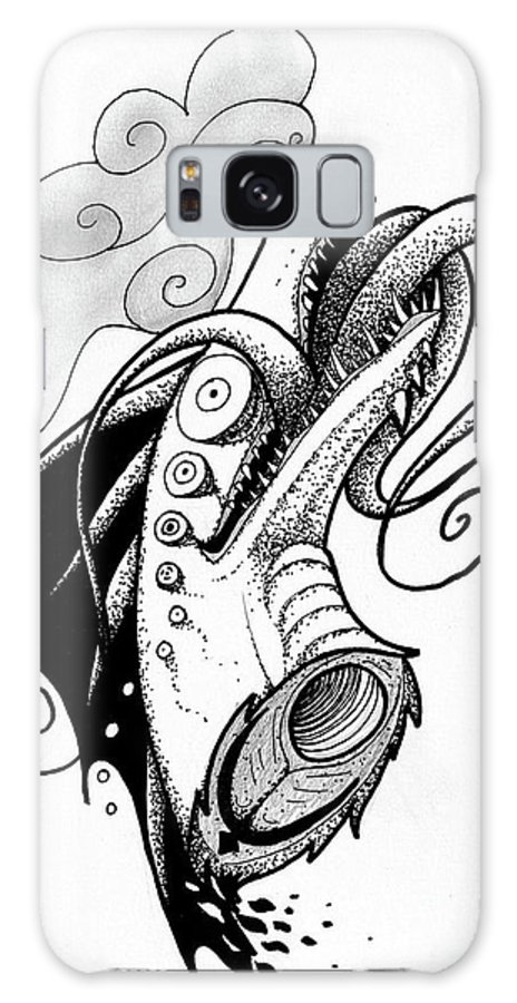 Dragon Galaxy S8 Case featuring the drawing Craze by Samantha Welch