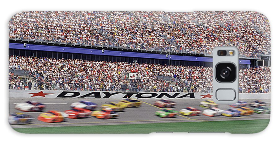 Event Galaxy Case featuring the photograph Crowd At Car Race by William R. Sallaz