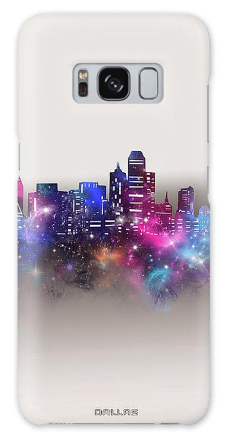 Dallas Galaxy S8 Case featuring the digital art Dallas Skyline Galaxy by Bekim M