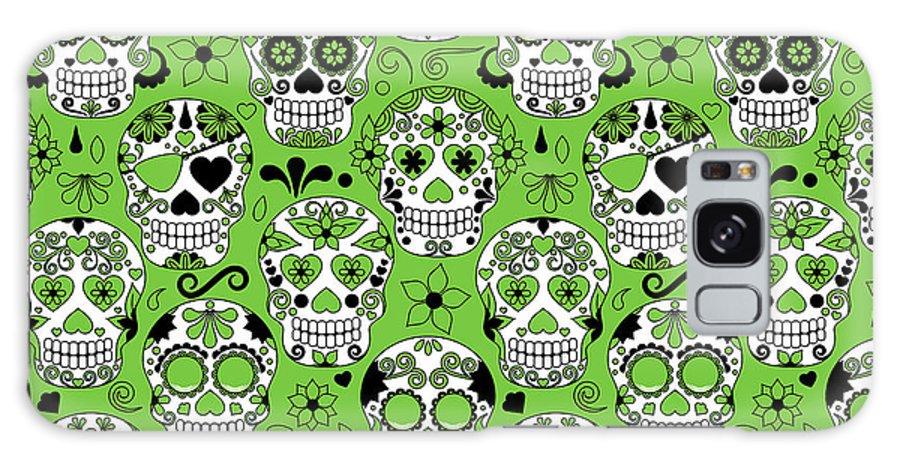 De Galaxy S8 Case featuring the digital art Day Of The Dead Sugar Skull Seamless by Pinkpueblo