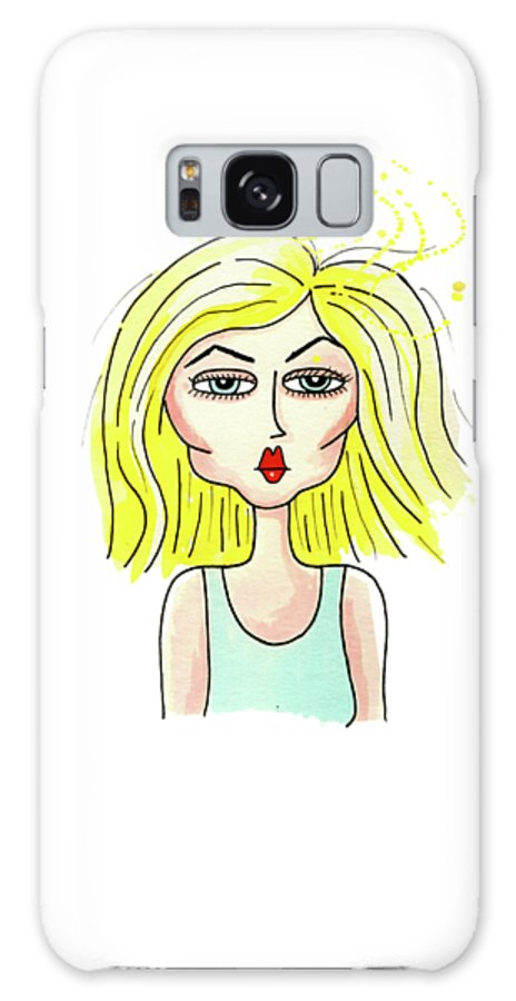 Debbie Harry Galaxy S8 Case featuring the drawing Debbie by Andrew Hitchen