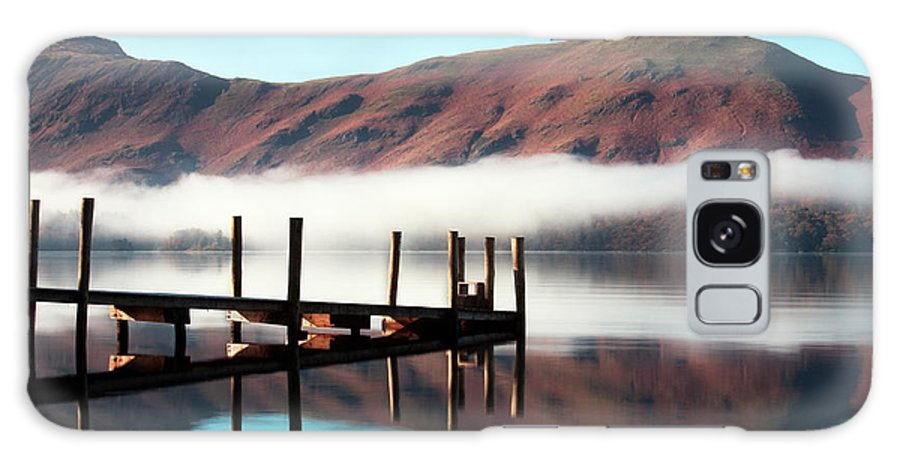 Blue Sky Galaxy S8 Case featuring the photograph Derwentwater Landing Stage. The by Atgimages