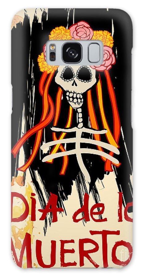 Symbol Galaxy Case featuring the digital art Dia De Los Muertos Day Of The Dead by Ajgul