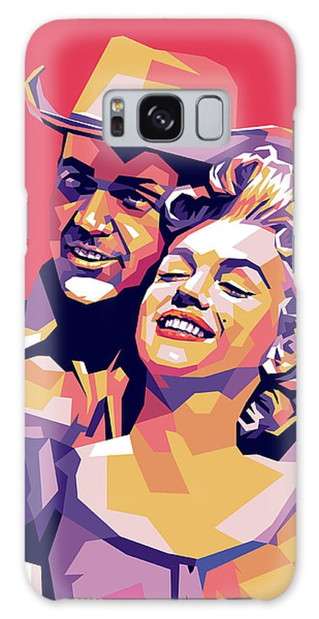 Don Galaxy Case featuring the digital art Don Murray and Marilyn Monroe by Stars on Art