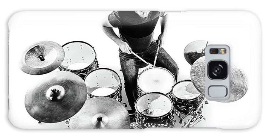 Drummer Galaxy Case featuring the photograph Drummer from above by Johan Swanepoel