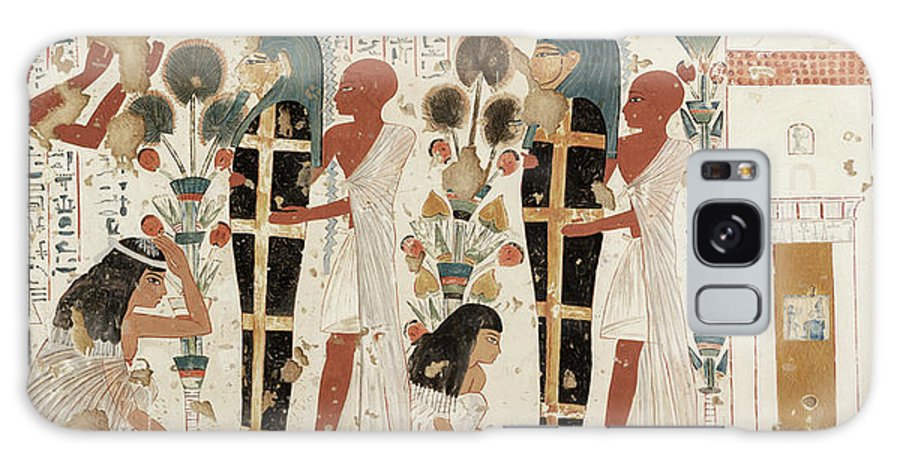 B1019 Galaxy Case featuring the painting Egypt: Funeral Preparation by Charles K. Wilkinson