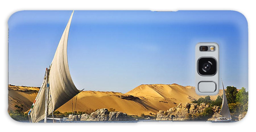 Sky Galaxy S8 Case featuring the photograph Egypt. The Nile At Aswan by Witr