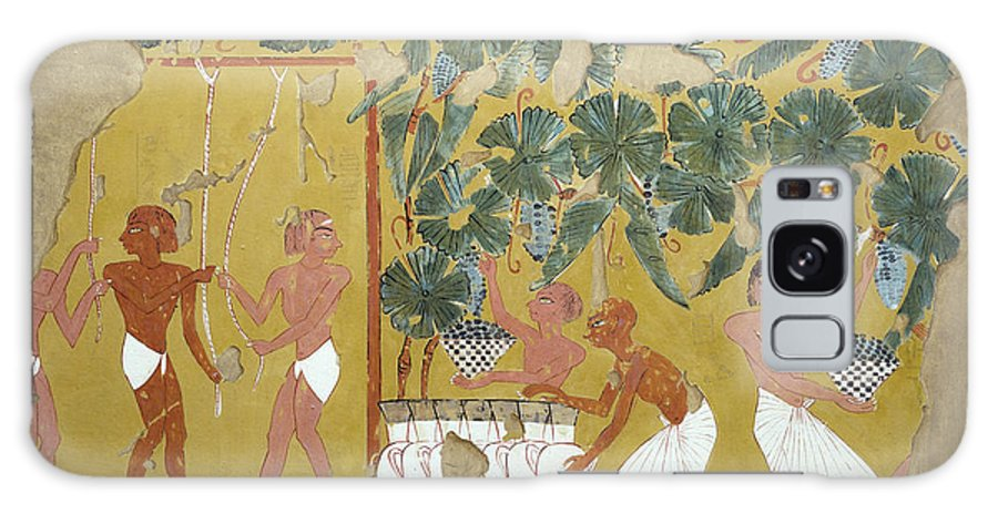 B1019 Galaxy Case featuring the painting Egypt: Winemaking by Charles K. Wilkinson