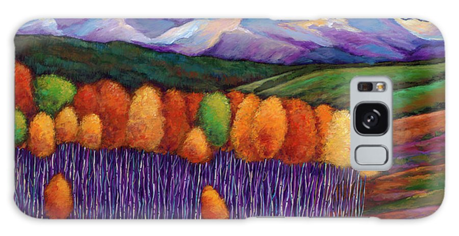 Aspen Trees Galaxy S8 Case featuring the painting Elysian by Johnathan Harris
