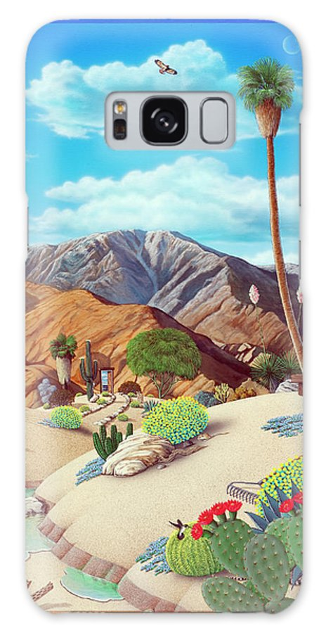 Desert Galaxy Case featuring the painting Enchanted Desert by Snake Jagger