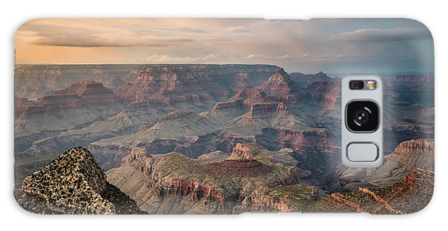 Majestic Galaxy Case featuring the photograph Epic Sunset Over Grand Canyon South Rim by Wayfarerlife Photography