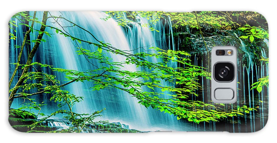 D1-l-2971-d Galaxy S8 Case featuring the photograph Falls Behind Spring Trees by Paul W Faust - Impressions of Light