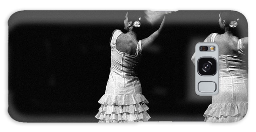 Ballet Dancer Galaxy Case featuring the photograph Flamenco Lace Fan by T-immagini