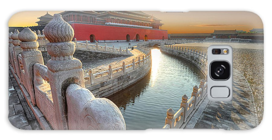 Capital Galaxy S8 Case featuring the photograph Forbidden City In China During Sunset by Hung Chung Chih