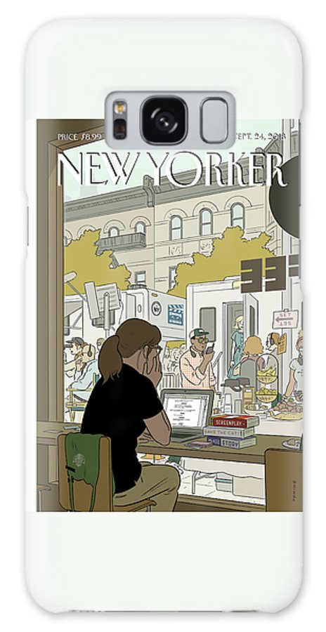 Fourth Wall Galaxy Case featuring the drawing Fourth Wall by Adrian Tomine
