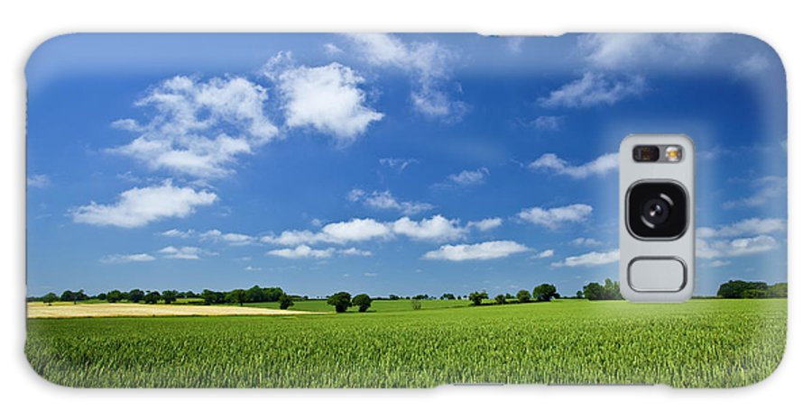 Environmental Conservation Galaxy Case featuring the photograph Fresh Air. Blue Skies Over Green Wheat by Alvinburrows
