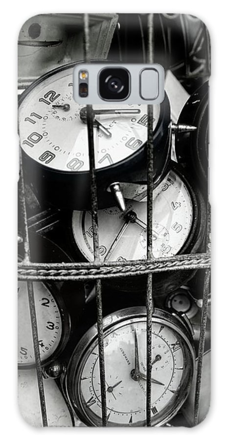 Large Group Of Objects Galaxy Case featuring the photograph Full Frame Shot Of Alarm Clocks by Piet Ocasek / Eyeem