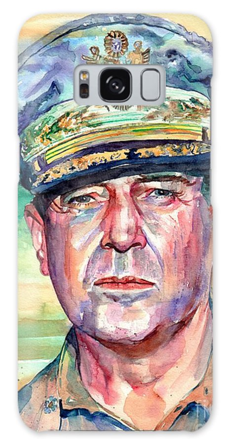 General Galaxy Case featuring the painting General Douglas Macarthur Portrait by Suzann Sines