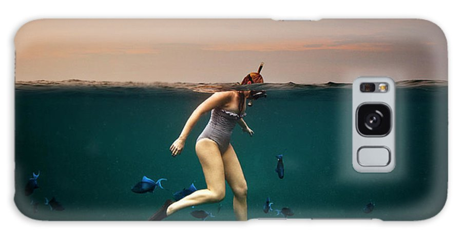 People Galaxy Case featuring the photograph Girl Snorkelling by Rjw