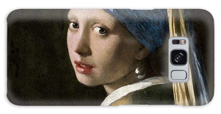 Johannes Vermeer Galaxy S8 Case featuring the painting Girl With A Pearl Earring, Circa 1665 by Johannes Vermeer