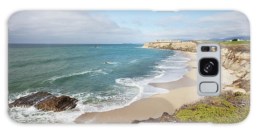 Water's Edge Galaxy Case featuring the photograph Half Moon Bay California by Stevegeer