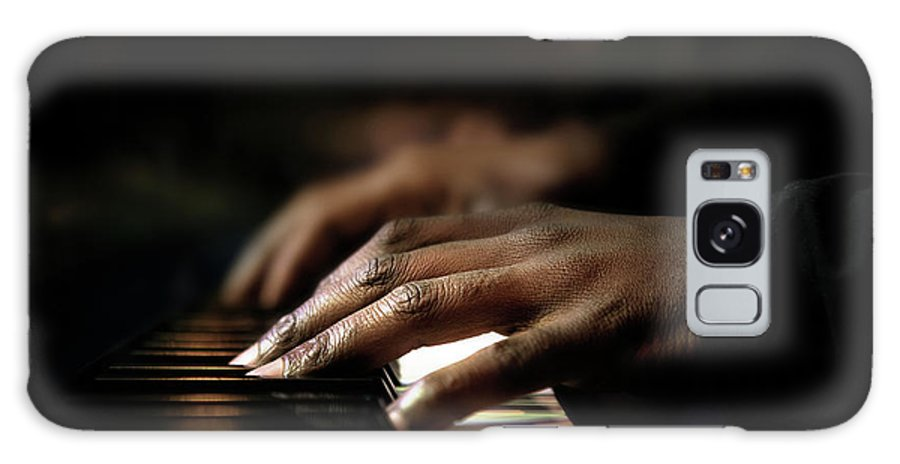 Pianist Galaxy Case featuring the photograph Hands Playing Piano Close-up by Johan Swanepoel