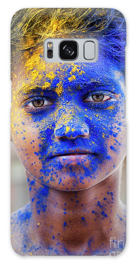 Indian Galaxy Case featuring the photograph Holi Boy by Tim Gainey