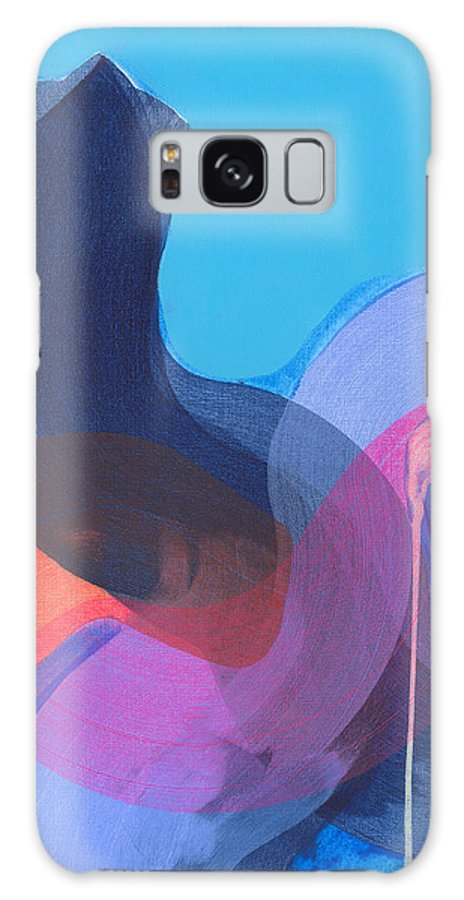 Abstract Galaxy S8 Case featuring the painting How Did It Get To Be So Late? by Claire Desjardins