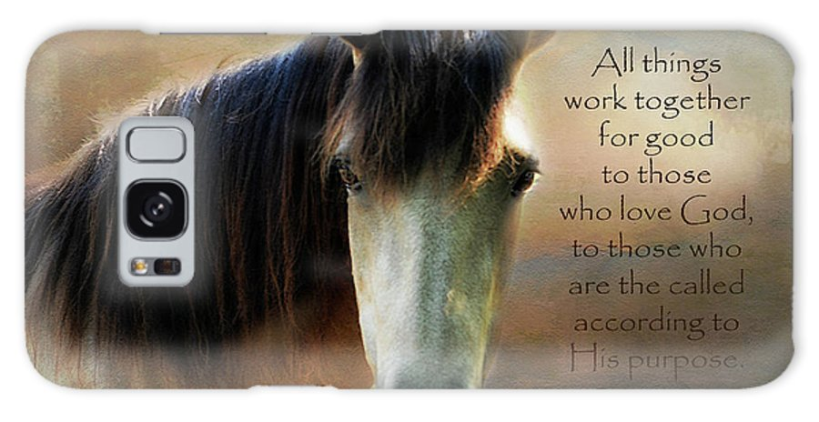 If Horses Could Talk Galaxy S8 Case featuring the digital art If Horses Could Talk - Verse by Anita Faye