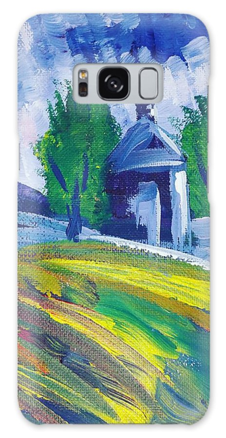 Acrylic Galaxy Case featuring the painting Impression by Paola Baroni