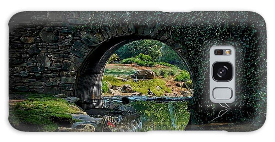 Bridge Galaxy Case featuring the photograph In the Middle of A Reflection by Zayne Diamond Photographic