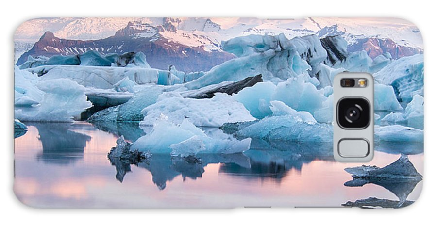 Icelandic Galaxy Case featuring the photograph Jokulsarlon Glacier Lagoon, Iceland by Adellyne
