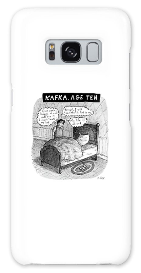 Kafka Galaxy S8 Case featuring the drawing Kafka Age Ten by Roz Chast