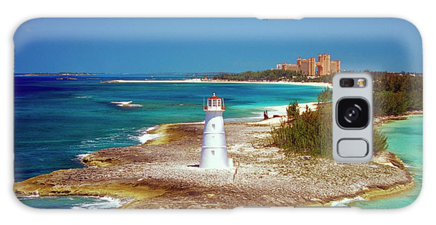Outdoors Galaxy Case featuring the photograph Lighthouse On Paradise Island-nassau by Medioimages/photodisc
