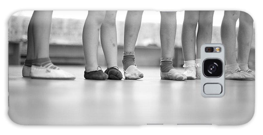 Feet Galaxy S8 Case featuring the photograph Little Ballerinas Legs Standing In A by Anna Jurkovska