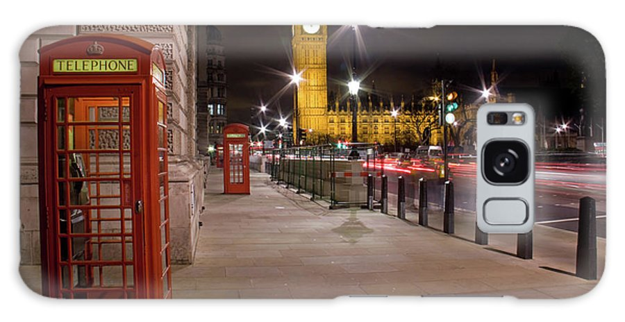 Clock Tower Galaxy Case featuring the photograph London At Night by Simon Podgorsek
