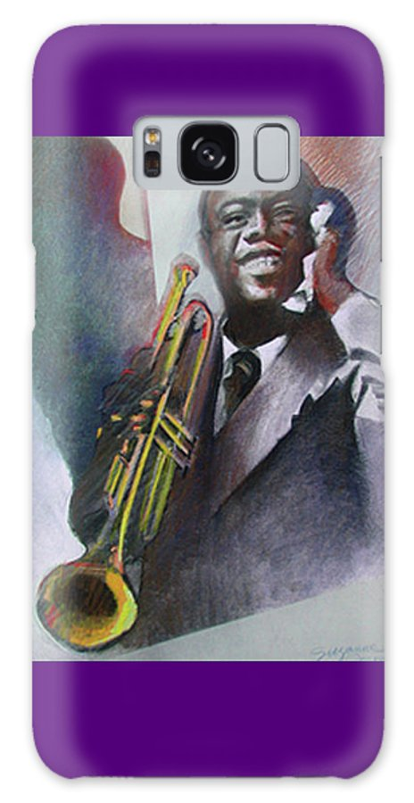 Louis Armstrong Galaxy Case featuring the painting Louis Armstrong by Suzanne Cerny