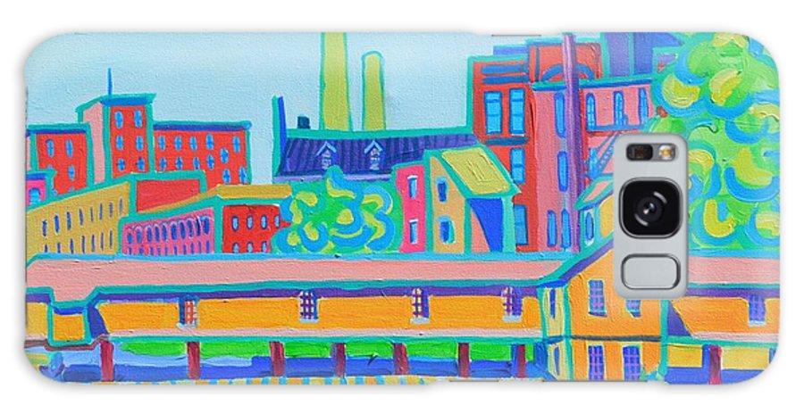 Locks Galaxy Case featuring the painting Lower Locks Lowell by Debra Bretton Robinson