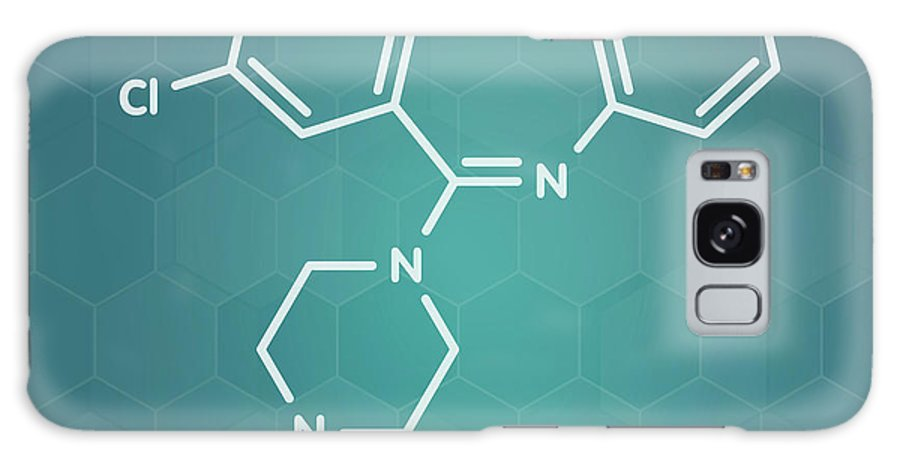 Loxapine Galaxy Case featuring the photograph Loxapine Antipsychotic Drug by Molekuul/science Photo Library